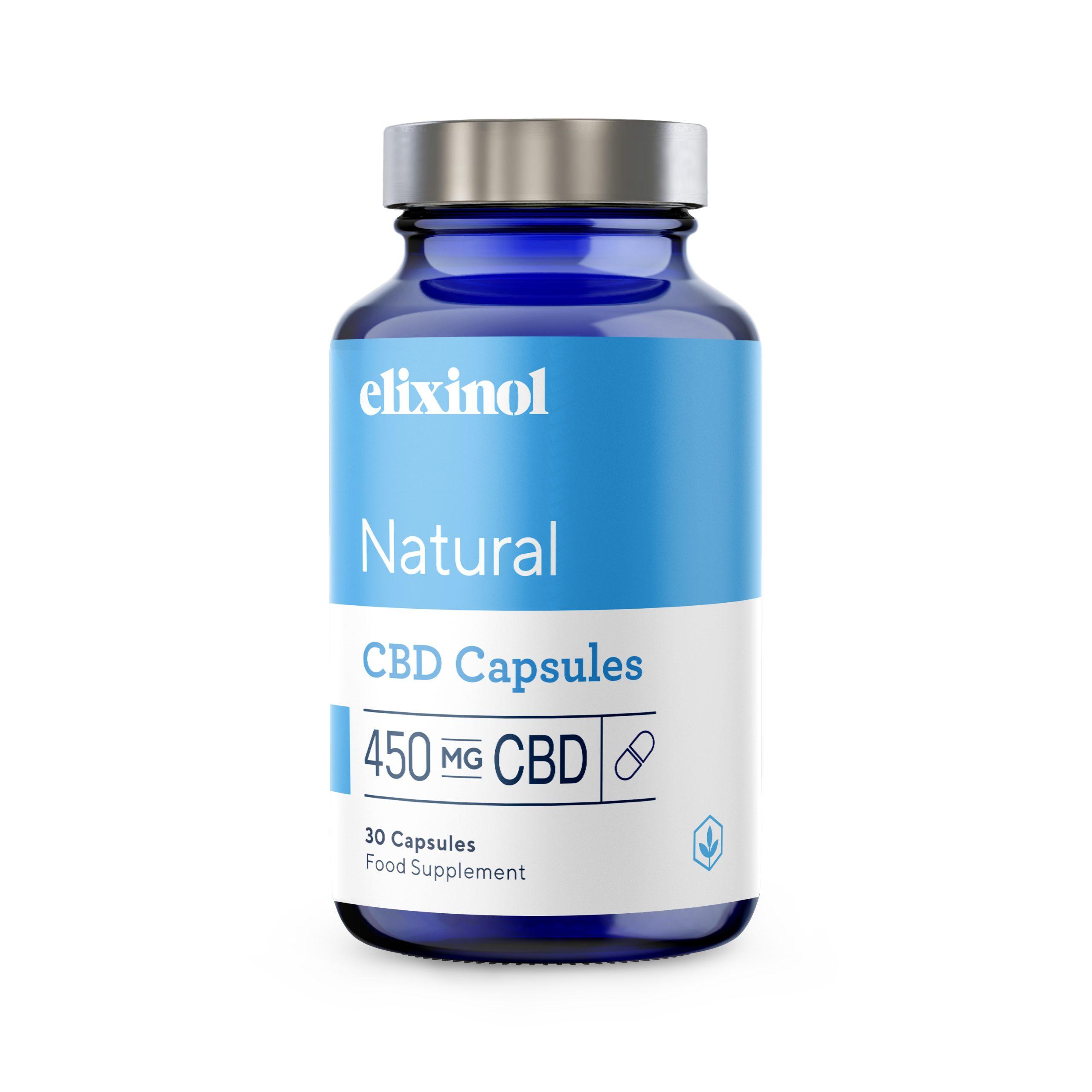 CBD Hemp Oil Capsules 450 mg of CBD